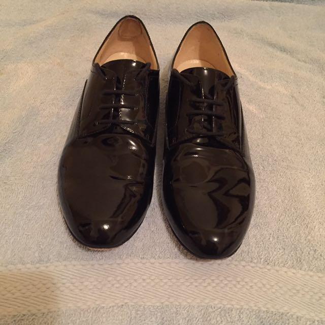 Patent Leather Oxfords Size 37.5 (AUS 5.5)