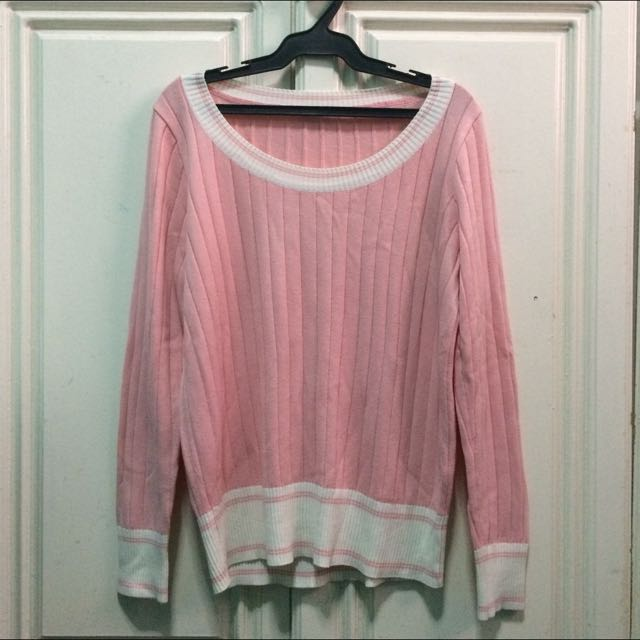 Pink Knitted Pull Over