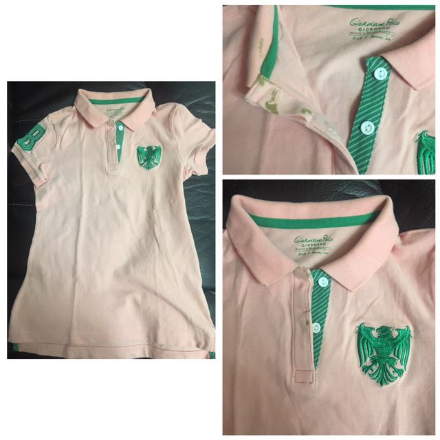 Pink Peach Giordano Polo Shirt