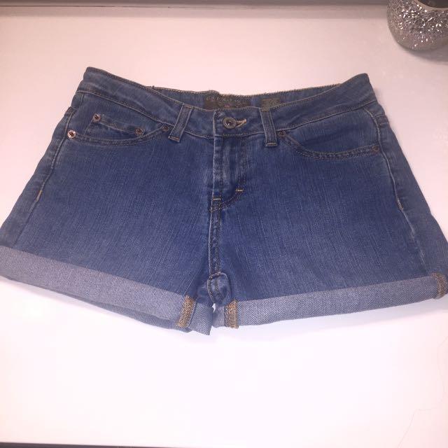Polo High Waisted Denim Shorts