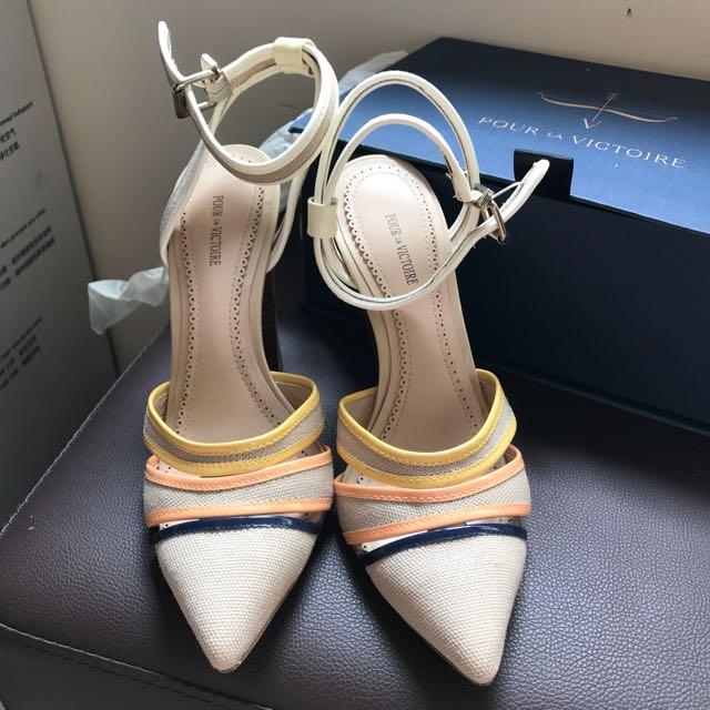 Pour la Victoire Stacked heels sandals high heels 粗踭 高踭鞋 涼鞋