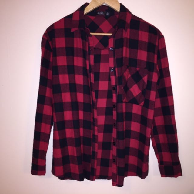 Red Checked Shirt Size 8