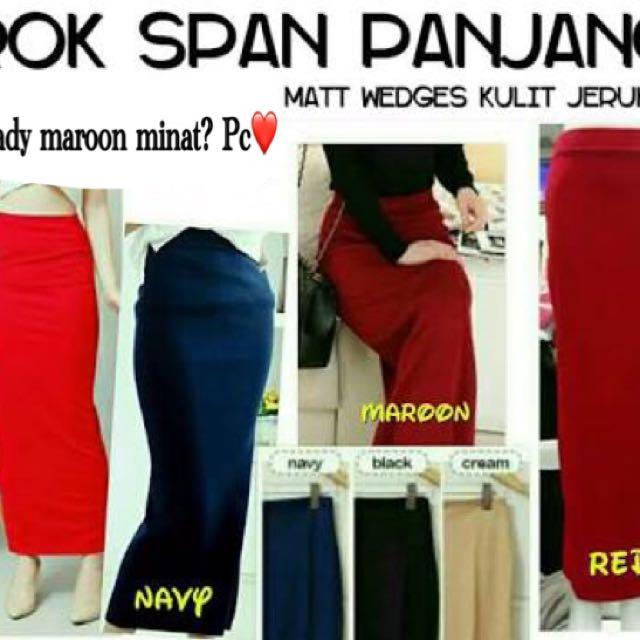 Rok Span Panjang / Long Skirt Span