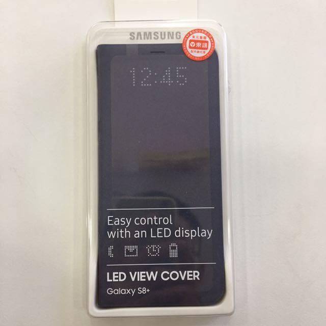 (全新)Samsung 三星 S8+ 原廠LED皮革翻頁式皮套