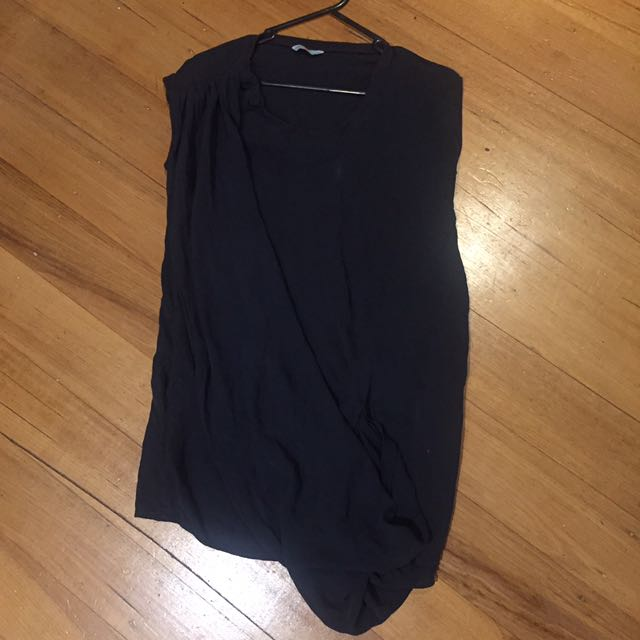 SASS & BIDE Silk Navy Dress