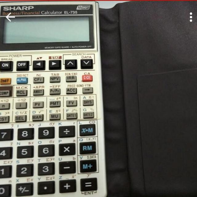 sharp el 735 financial calculator electronics others on carousell rh sg carousell com Sharp EL 733A User Manual Sharp EL 733A Financial Calculator