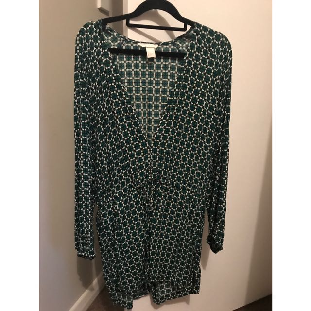 Size 8 - H&M Green Playsuit