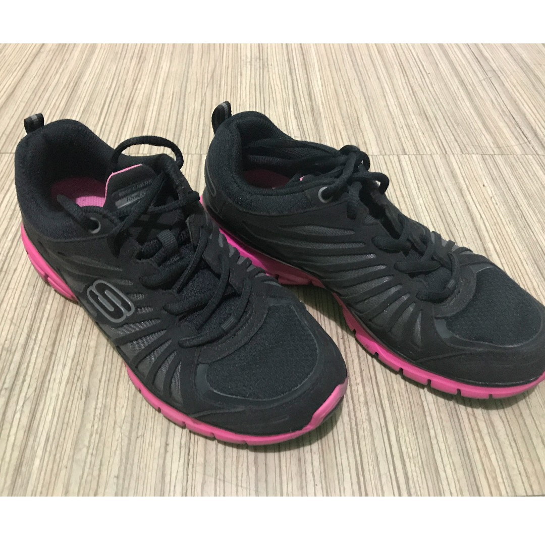 Skechers Shape-up Run in Black & Pink