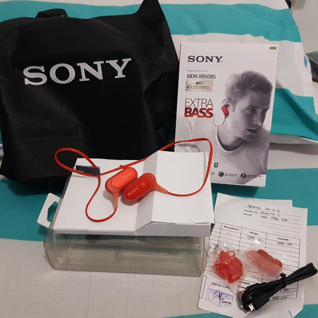 SONY MDR-XB50BS WIRELESS STEREO HEADSET