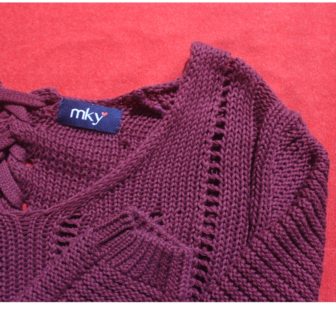 Sweater Maroon by MKY