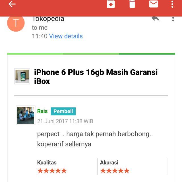 TESTIMONI iPhone 6 Plus 16gb iBox