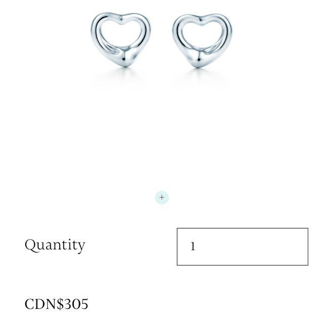 Tiffany Open Heart Earnings