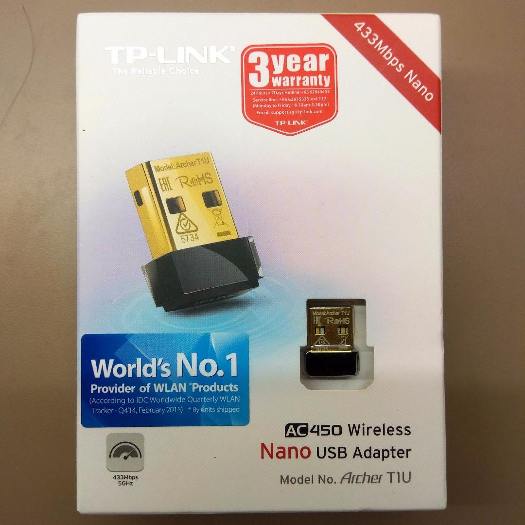 TP-Link Archer T1U AC450 Wireless Nano wifi USB Adapter