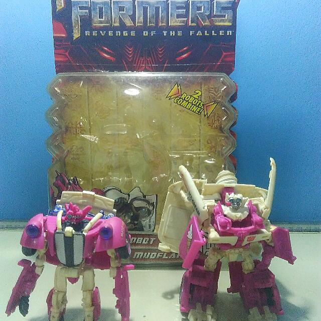 Transformers Rotf Mudflab and Skids Deluxe Class