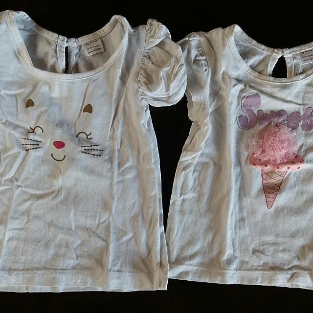 (Price  Drop) Tiny Tummies T-shirts (2 Items)