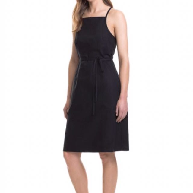 WANT TO BUY! Country Road A-Line Pinafore Dress Black