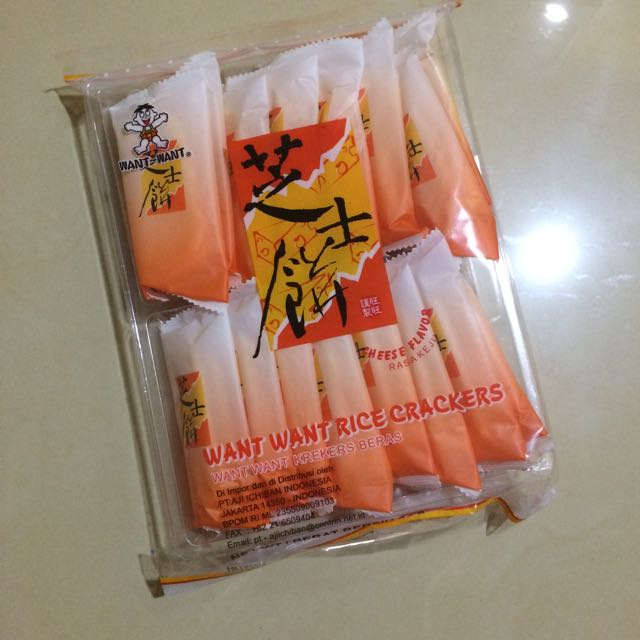 Want Want Rice Crackers Cheese Flavor