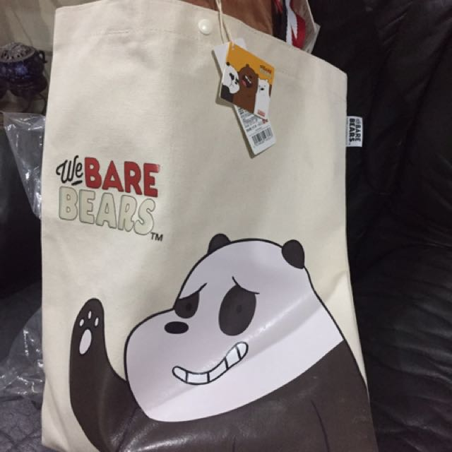 We Bare Bears Eco Bag Miniso