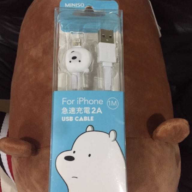 We Bare Bears Iphone Usb Cable