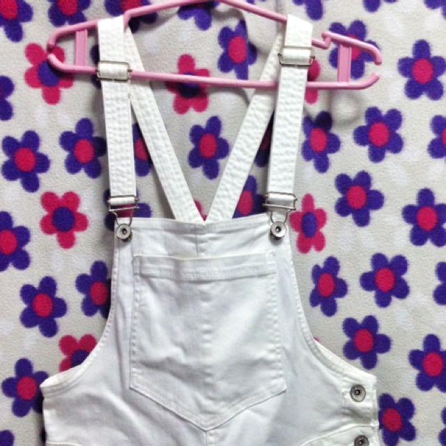 White Jumper Pants