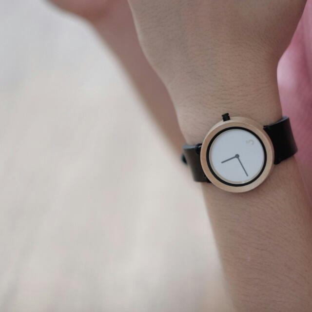 Wooden Watch with Leather Strap