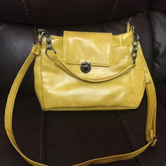 Yellow Parisian Bag