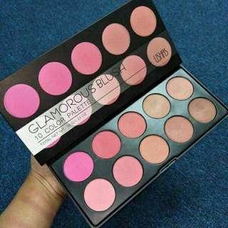 Ushas Glamorous Blush 10 Color Palette