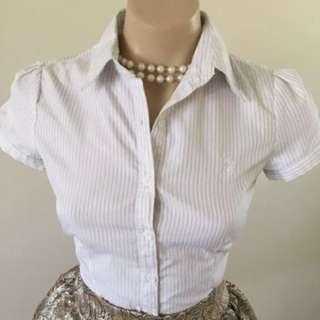 Ralph Lauren Polo Button Shirt Work Top Size 6 Xs