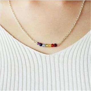 7 Chakra Beads Pendant Yoga Reiki Healing Balancing Necklace