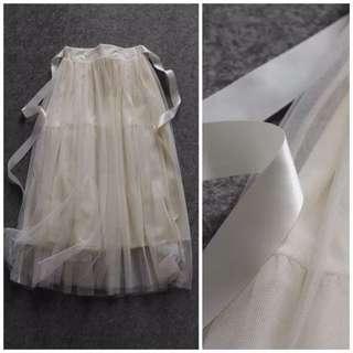 OshareGirl 06 歐美緞帶網紗拼接裙澎裙紗裙