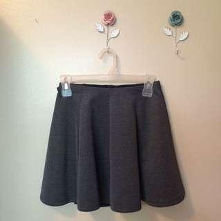 Grey Pleated Skirt