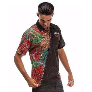 Naidoc 2017 Strength Through Language Polo T Shirt Tee Aboriginal Art Painting