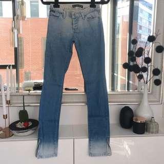 Bardot Low Rise Ombré Effect Jeans