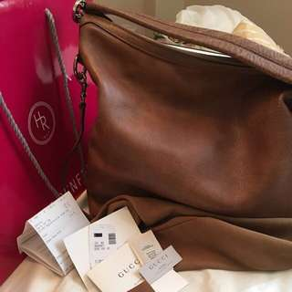 Authentic Gucci Miss GG Leather Hobo/ Crossbody