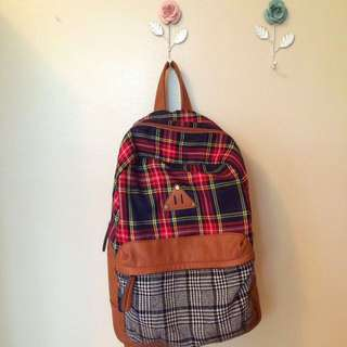 Call It Spring plaid backpack
