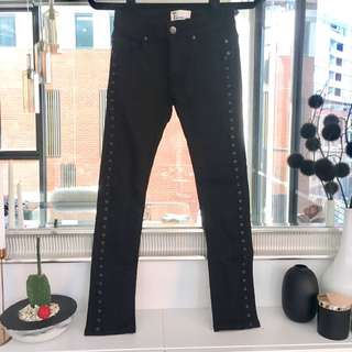 Bettina Liano Black Low Rise Jeans Size 6