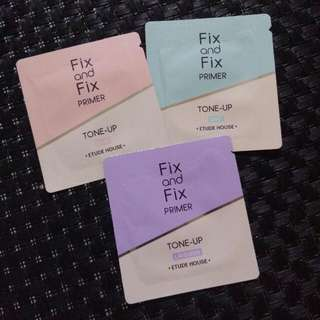 Etude Fix and Fix Tone Up Primer SPF33 (sachets)