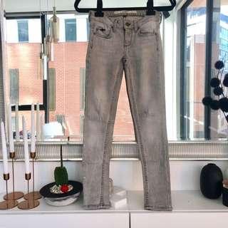 Topshop Petite Jamie Skinny Grey Jeans Size 34