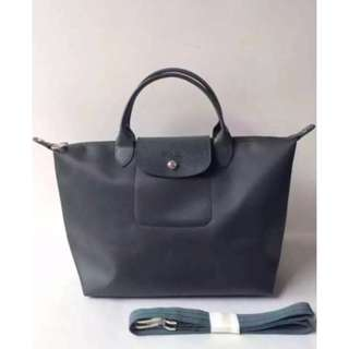 Longchamp Neo Medium Graphite Gray Bag (Genuine, New and On Hand for Shipping)