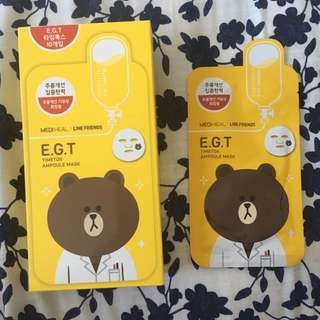 MEDI HEAL Line Friends E.G.T Timetox Ampoules Mask