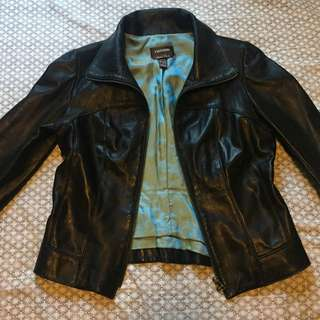Danier Black Leather Jacket