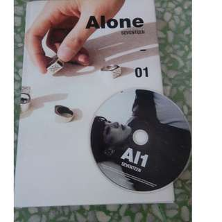 UNSEALED SEVENTEEN 4th MINI ALBUM (Alone VERSION) PHOTOBOOK + CD: HOSHI