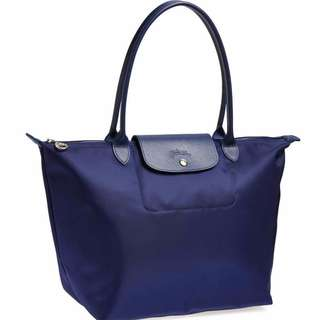 Longchamp Planetes Large Tote Navy Bag (Genuine, New and On Hand for Shipping)