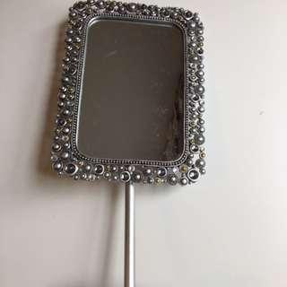 Silver Makeup Mirror
