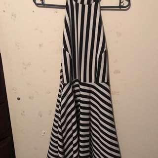 Stripy Backless Dress