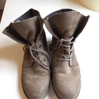 Brown Fur Lined Boots