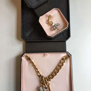 Juicy Couture Charm And Necklace
