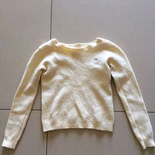 Light Canary Yellow Crop Pullover