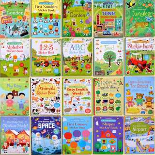 Just In! Usbourne Children Sticker Book