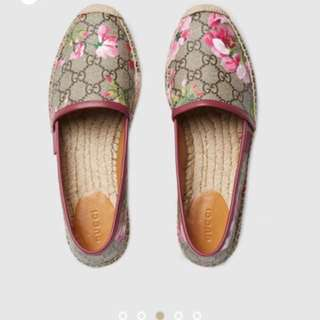 Authentic Gucci Blooms Espadrille W Receipt